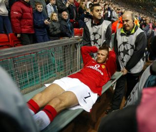 Soccer – European Champions League – Quarter Final – second leg – Manchester United v Deportivo – Old Trafford stadium