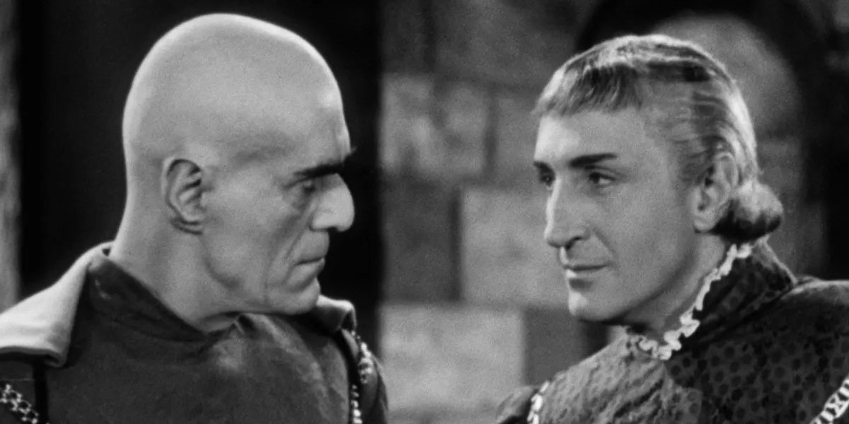 Boris Karloff and Basil Rathbone in Tower of London