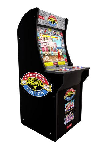 Get a recreation Street Fighter 2 arcade cabinet for under $200 at Amazon while this deal lasts