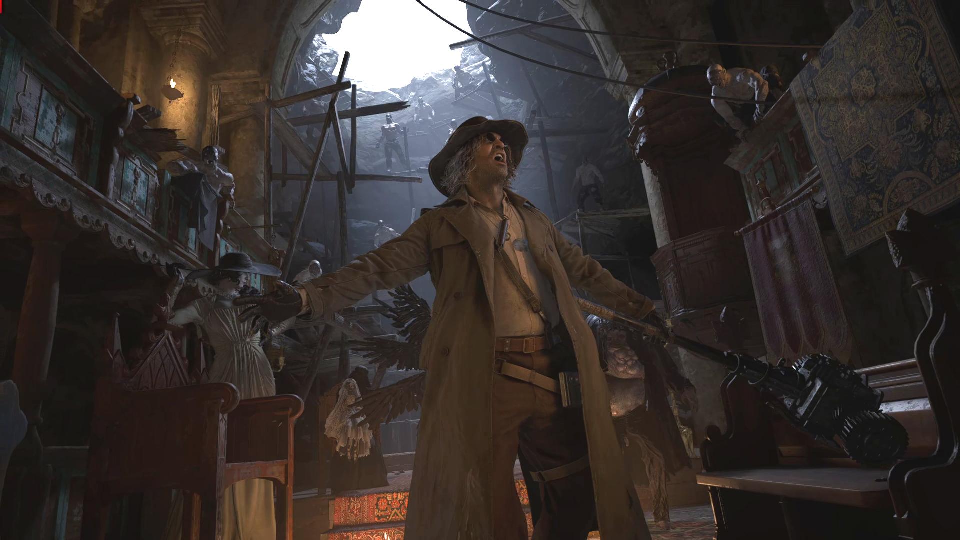Resident Evil Village boss scene screenshot