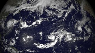 Four Pacific tropical storms
