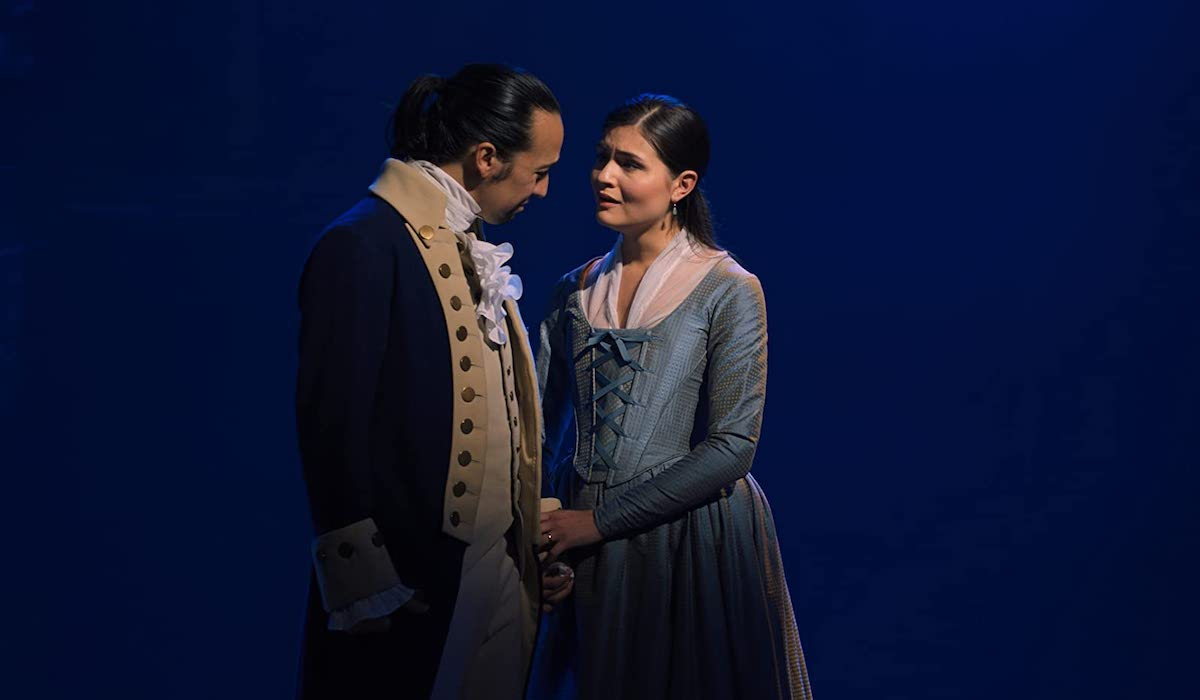 Lin-Manuel Miranda and Phillipa Soo in Hamilton