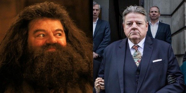 Robbie Coltrane as Hagrid in Harry Potter and as Paul in National Treasure