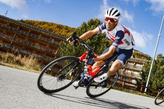 Trek-Segafredo's Vincenzo Nibali on stage 20 of the 2020 Giro d'Italia