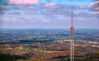 KET Tower from helicopter