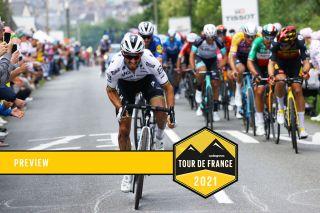 LANDERNEAU, FRANCE - JUNE 26: Julian Alaphilippe of France and Team Deceuninck - Quick-Step attacks on Côte De La Fosse Aux Loups (176m) final climb during the 108th Tour de France 2021, Stage 1 a 197,8km stage from Brest to Landerneau - Côte De La Fosse Aux Loups 176m / @LeTour / #TDF2021 / on June 26, 2021 in Landerneau, France. (Photo by Tim de Waele/Getty Images)