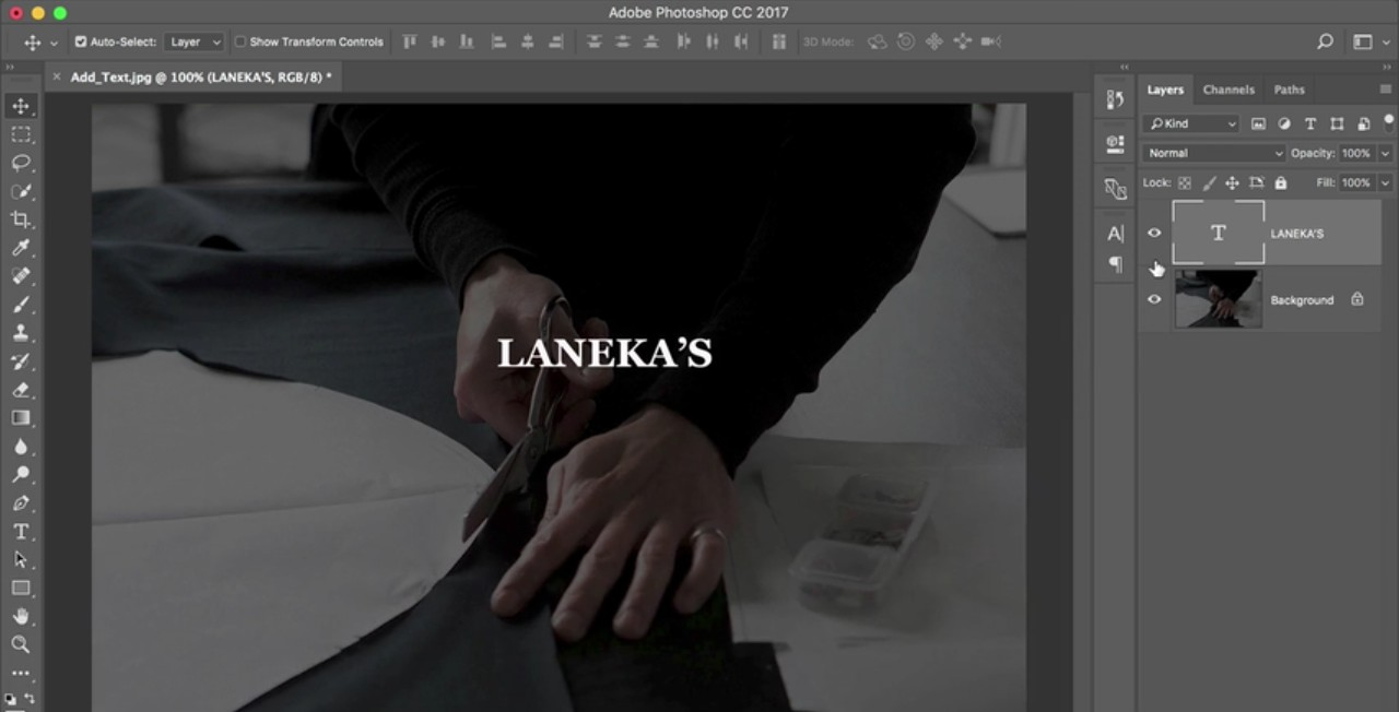 Photoshop tutorials: Adding text to a picture in Photoshop
