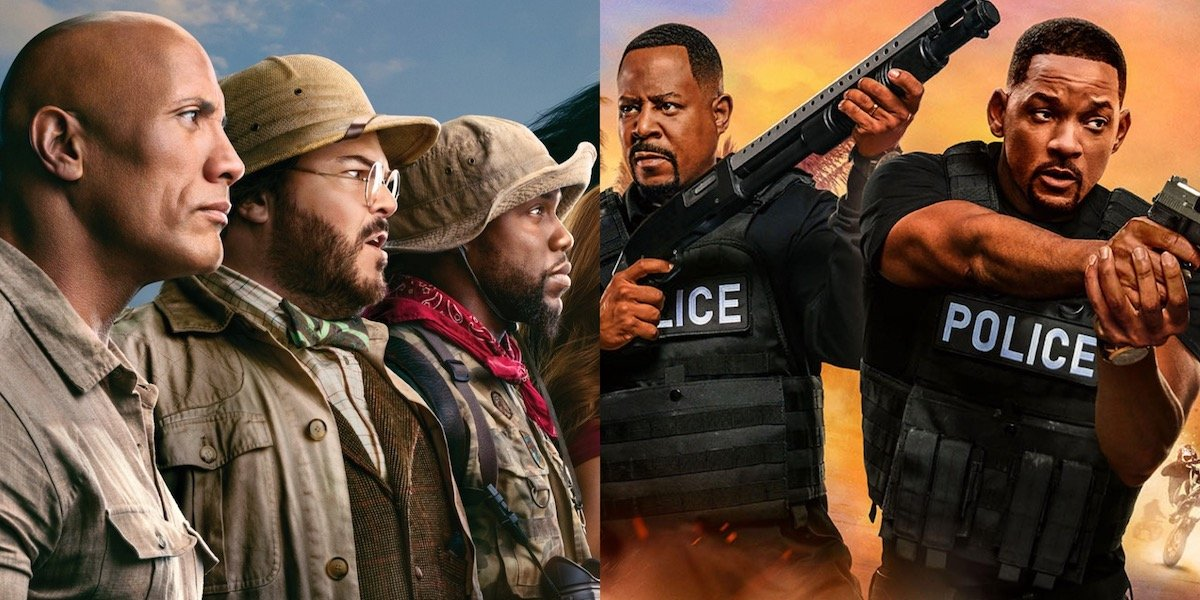 Jumanji 3 and Bad Boys 3 promo images