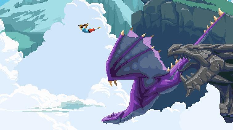 Check out the pixel art animation in parkour platformer Savior