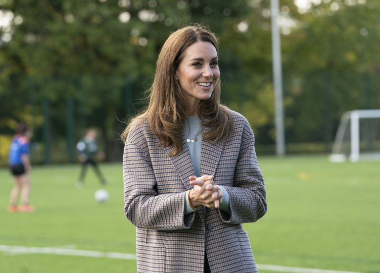 The Duchess of Cambridge visited students at the University of Derby to hear how the pandemic has impacted university life, and what national measures have been put in place to support student mental health Picture: Arthur Edwards