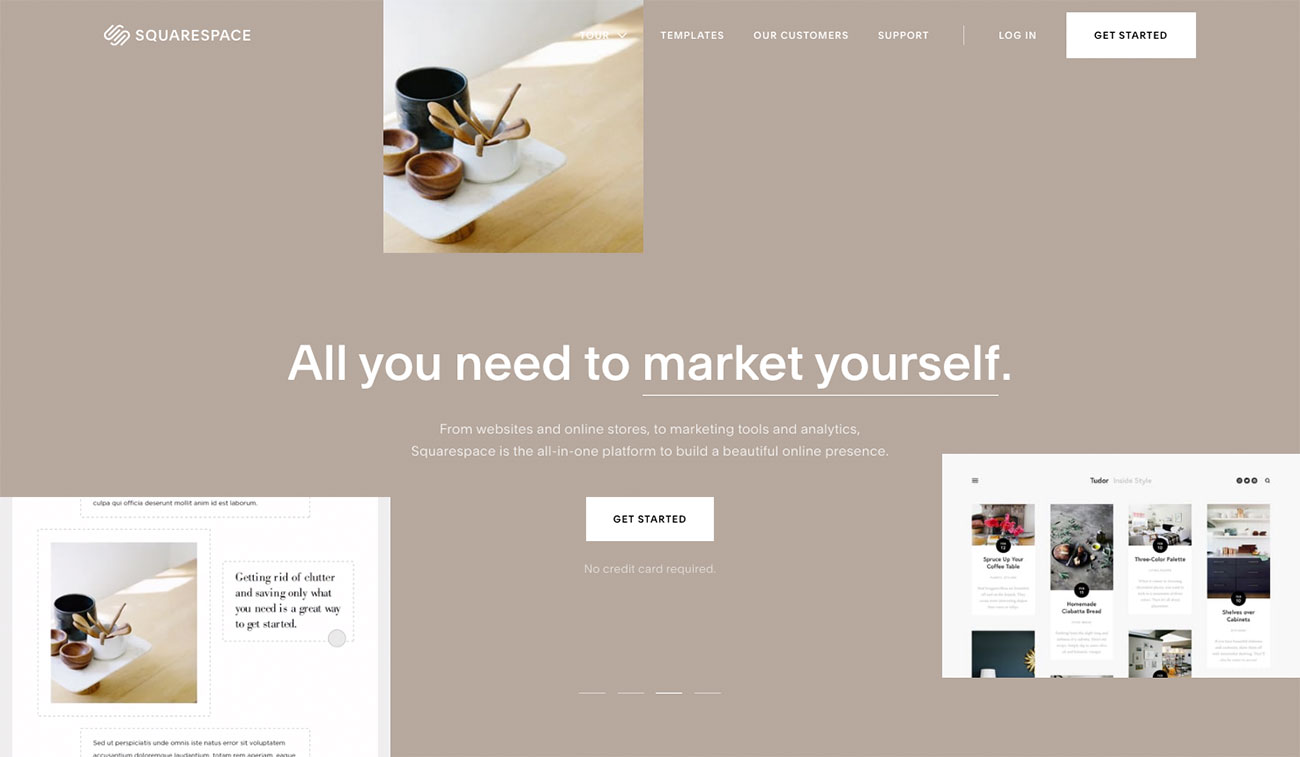 Choose a website builder: SquareSpace