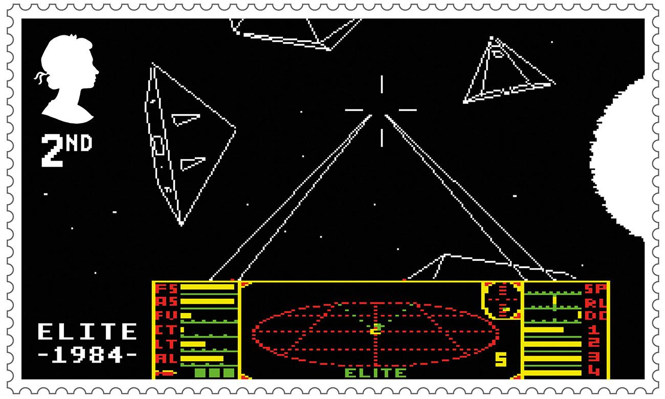 Royal Mail retro gaming stamps: Elite