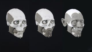 This recreation shows the likeness of a man from a hunter-gatherer group who lived about 8,000 years ago in what is now Sweden.