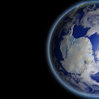 Globe with Antarctica