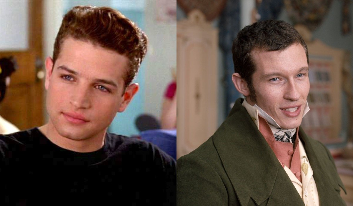 Justin Walker as Christian in Clueless and Callum Turner as Frank Churchill in Emma