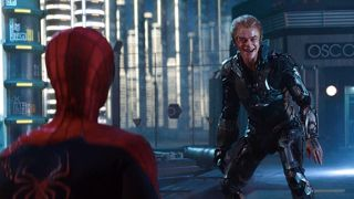 Andrew Garfield and Dane DeHaan in The Amazing Spider-Man 2