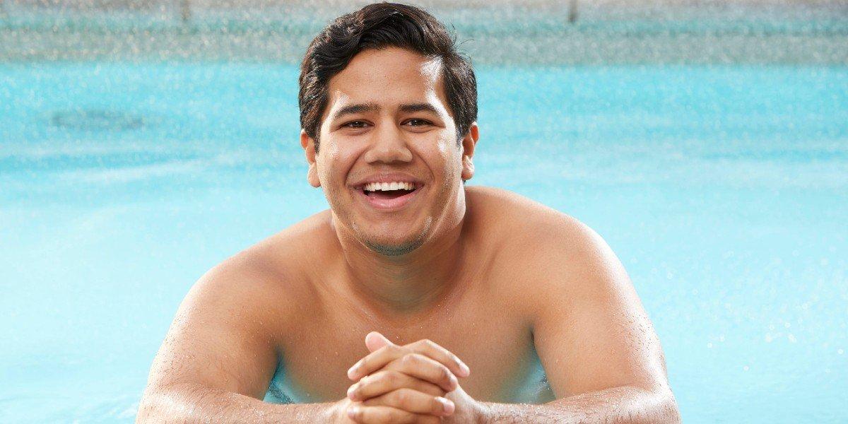 Ovi Kabir in the pool Big Brother CBS