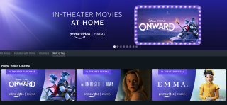 Amazon 'Prime Video Cinema' lets you rent new theater releases