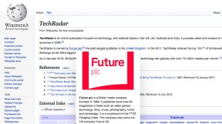 Page preview on Wikipedia