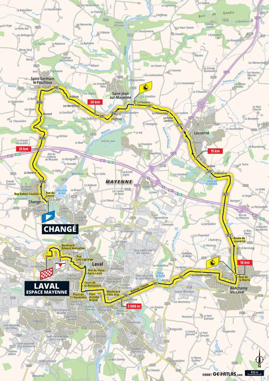 Stage 5 map 2021 Tour de France
