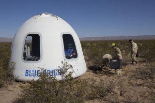 Blue Origin's New Shepard suborbital crew capsule 2.0