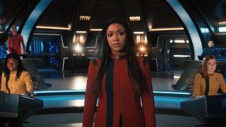 The bridge crew in star trek discovery season 4