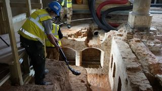 In April, a team working on a conservation project at the Old Royal Naval College in Greenwich, England discovered two rooms from Greenwich Palace.