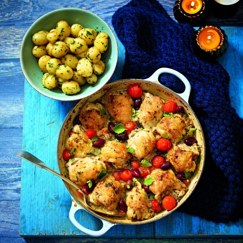 Lemon Chicken Mediterranean Style: One Pot Mediterranean Chicken