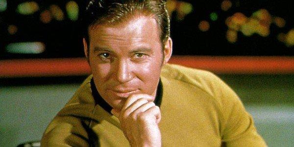 Star Trek William Shatner smizes into the camera as James T. Kirk