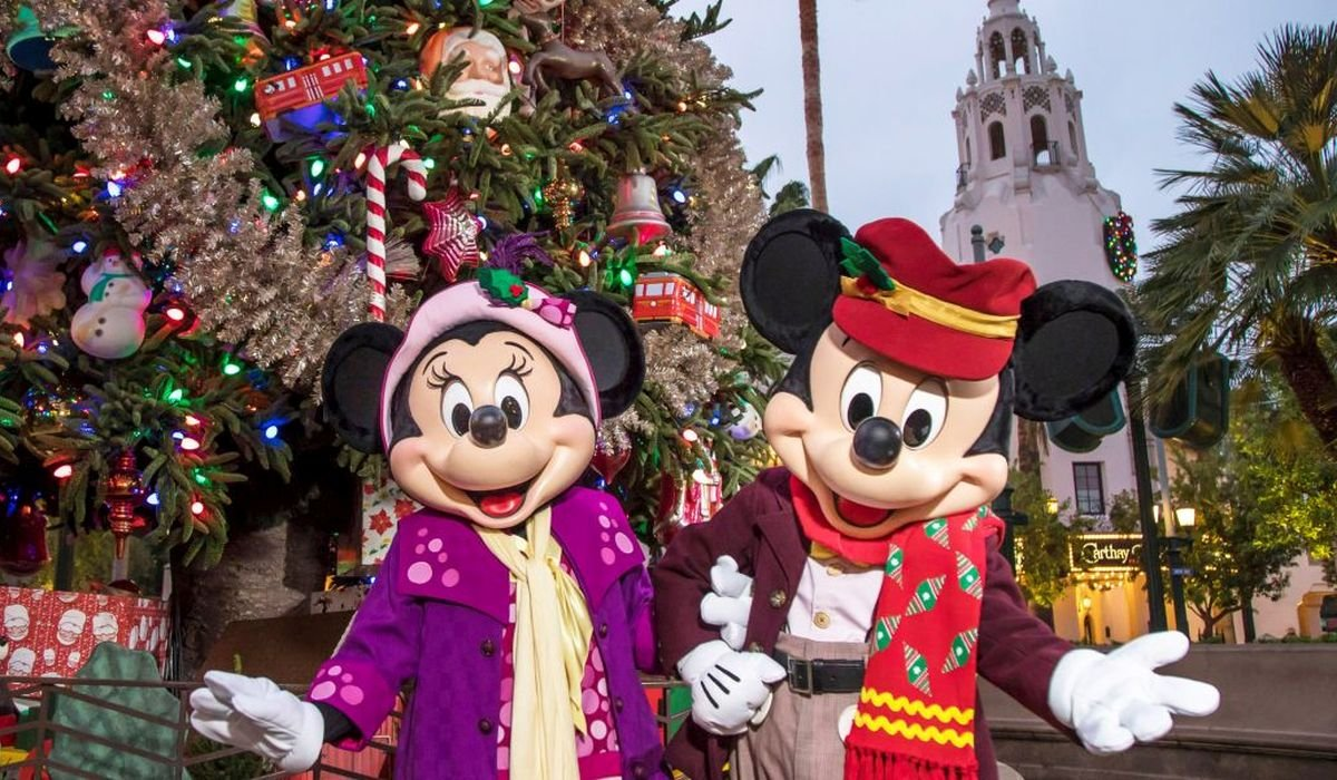 Mickey and Minnie at Christmas