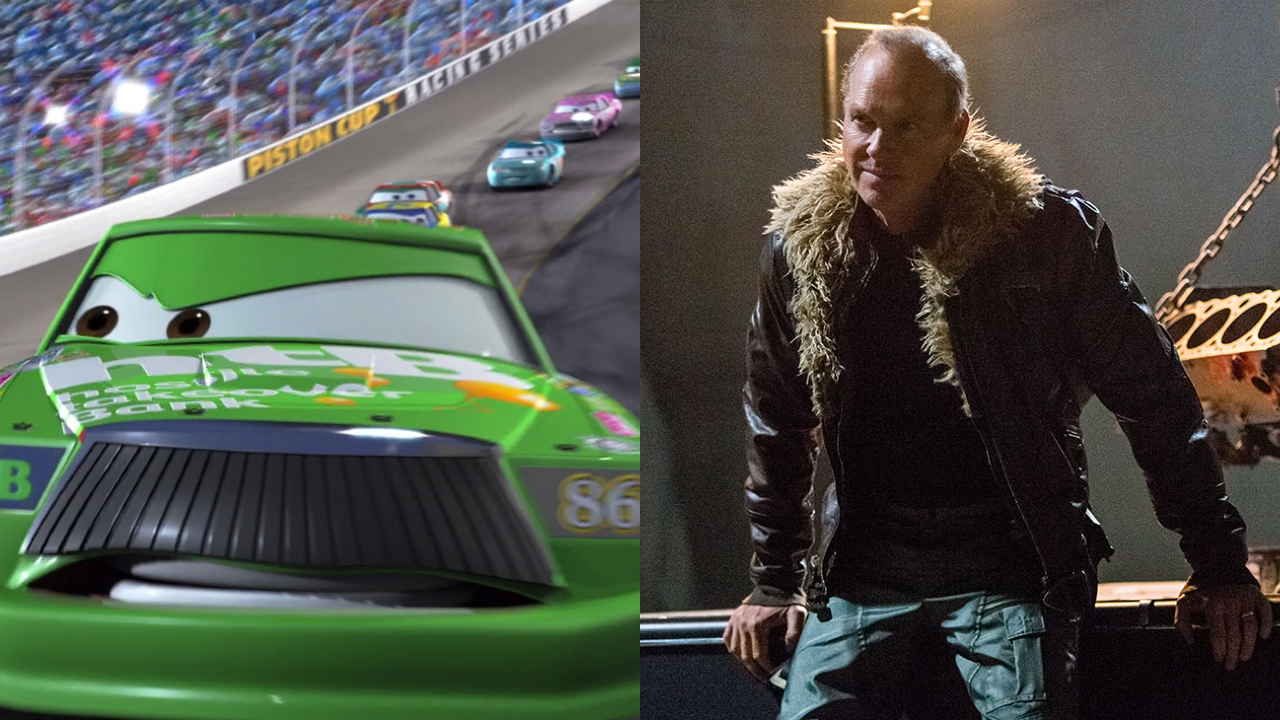 Chick Hicks in Cars; Michael Keaton in Spider-Man: Homecoming
