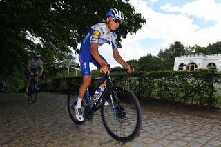 Wevelgem, BELGIUM - JUNE 16: Team Deceuninck Quick-Step during training following the Gent -