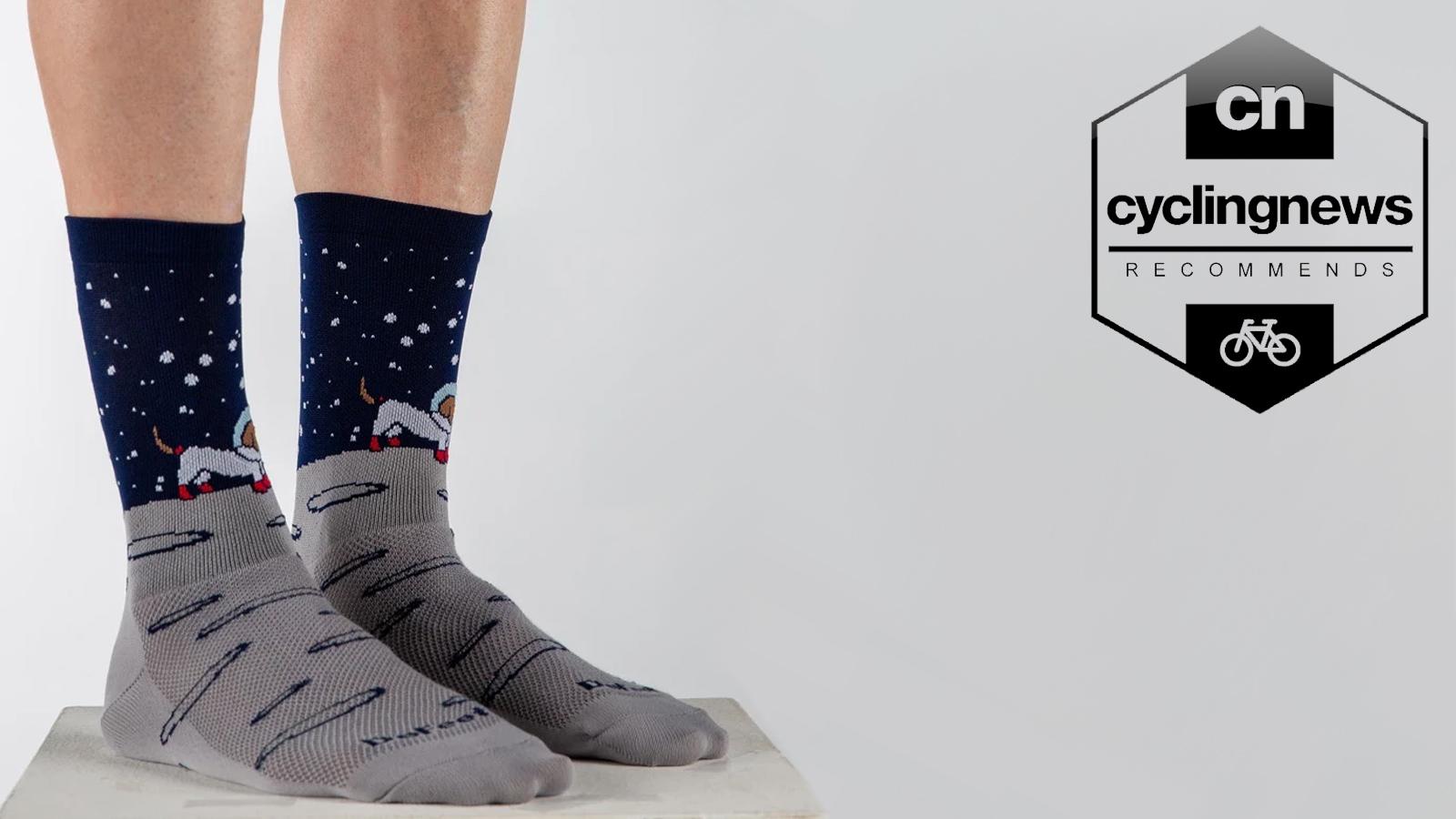 BLACK One Pair Castelli FAST FEET Tall Cuff Aero Bicycling Socks
