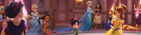 Vanellope with the Princesses in Ralph Breaks The Internet