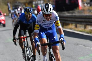 SESTRIERE ITALY OCTOBER 24 Pieter Serry of Belgium and Team Deceuninck QuickStep Breakaway during the 103rd Giro dItalia 2020 Stage 20 a 190km stage from Alba to Sestriere 2035m girodiitalia Giro on October 24 2020 in Sestriere Italy Photo by Tim de WaeleGetty Images