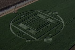 A mysterious 310-foot-diameter crop circle that appeared in a farmer's barley field in Chualar, Calif., was not alien made; rather it was a marketing stunt promoting Nvidia's new Tegra K1 processing chip.