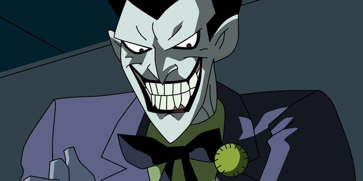 Batman: The Animated Series' Joker grins.