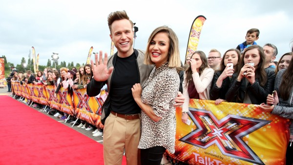 Caroline Flack and Olly Murs.
