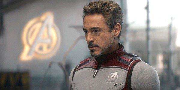 Avengers Endgame Robert Downey Jr Tony Stark in suit in Avengers tower
