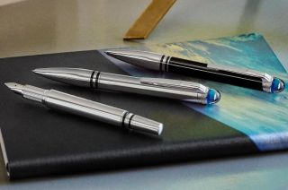 Montblanc's StarWalker line of pens takes a unique perspective on space exploration by looking back at our home planet.