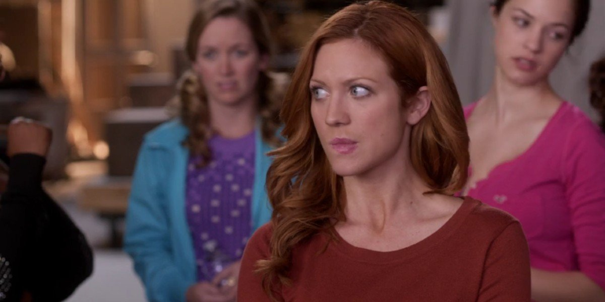 Brittany Snow,  Alexis Knapp, and Kelley Jakle in Pitch Perfect