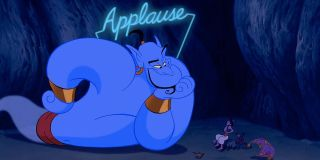 Aladdin's Genie with applause sign