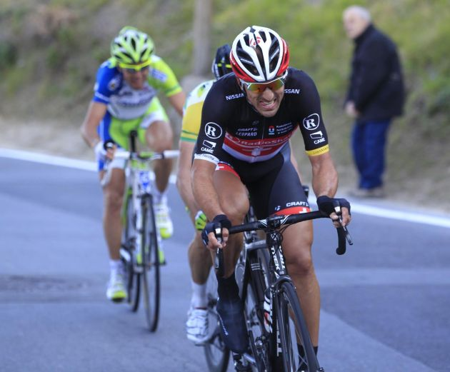 Fabian Cancellara leads group, Milan-San Remo 2012