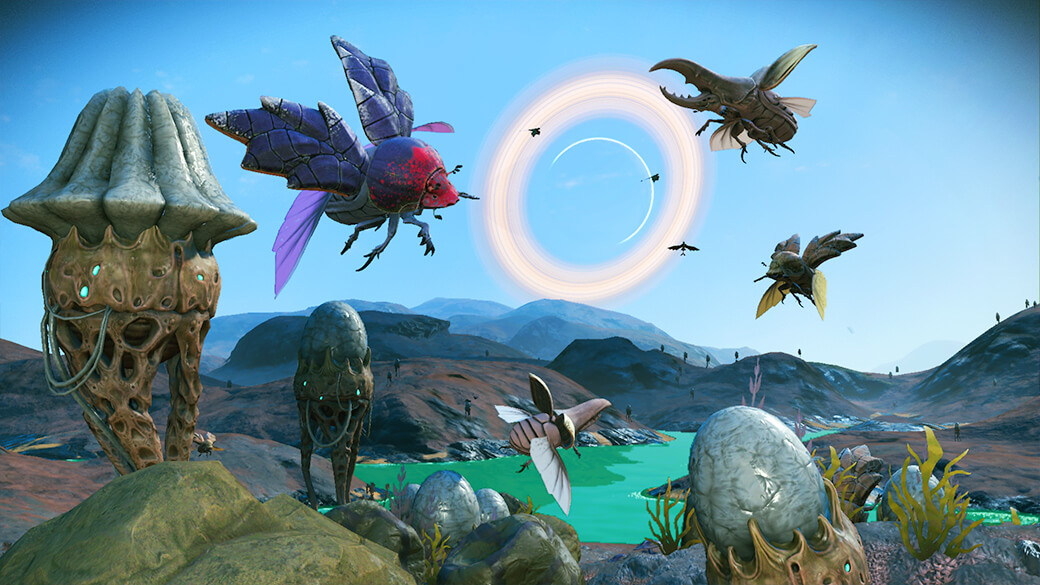 Giant beetles and butterflies now make an appearance in-game.