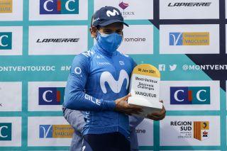 Miguel Angel Lopez won the recent Mont Ventoux Challenge
