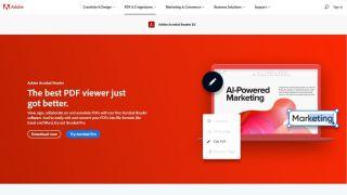 Adobe Acrobat DC Website