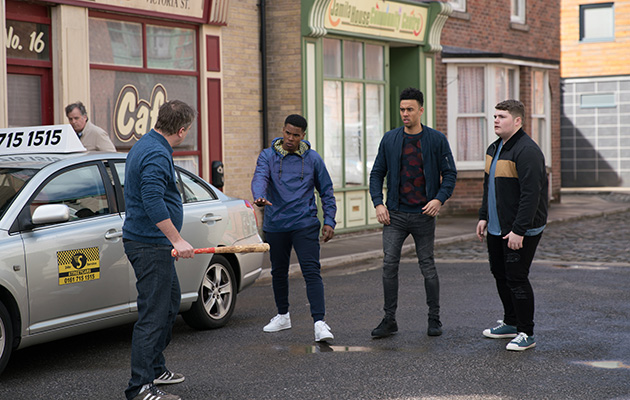 Coronation Street spoilers: Steve McDonald threatens a group of lads!
