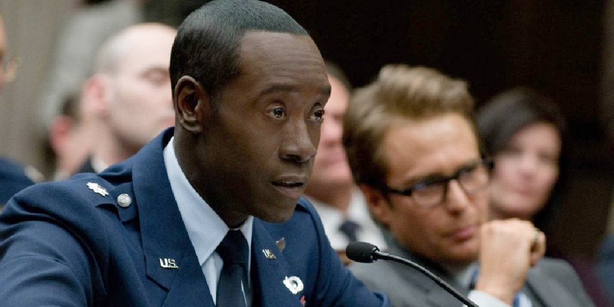 Rhodey in the Marvel movies.