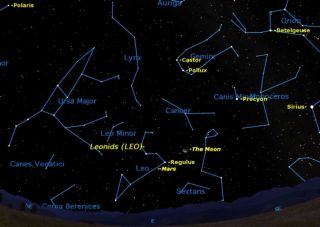 Leonids November 2011 Sky Map