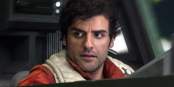 Poe Dameron In His X-Wing Oscar Isaac STar Wars The Last Jedi